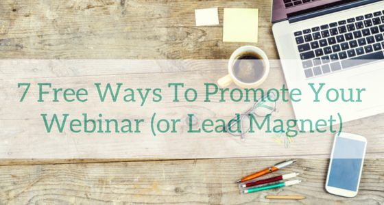 how to promote your webinar free
